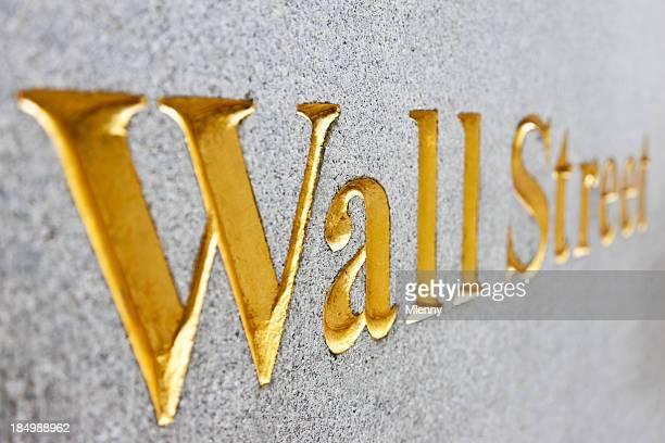 New York City Golden Wall Street Sign