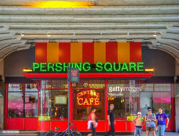 new york city - grand central station - pershing square - pershing square stock photos and pictures