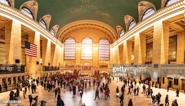 new york city grand central terminal - grand central station stock photos and pictures