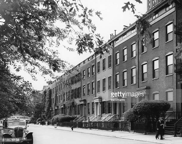 New York City Greenwich Village Old colonial front on Washington Square North Undated photograph