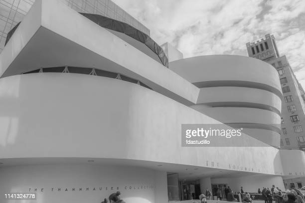 new york city - guggenheim museum - solomon r. guggenheim museum stock photos and pictures