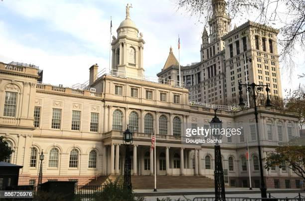 new york city hall, new york city, new york, usa - town hall stock pictures, royalty-free photos & images