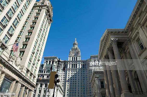 new york city hall - federal building stock pictures, royalty-free photos & images
