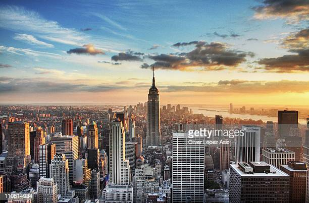 new york city hdr - empire state building stock pictures, royalty-free photos & images