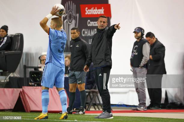 New York City head coach Ronny Deila during leg 1 of the Concacaf Champions League Quarterfinal between New York City FC and Tigres UANL on March 11,...