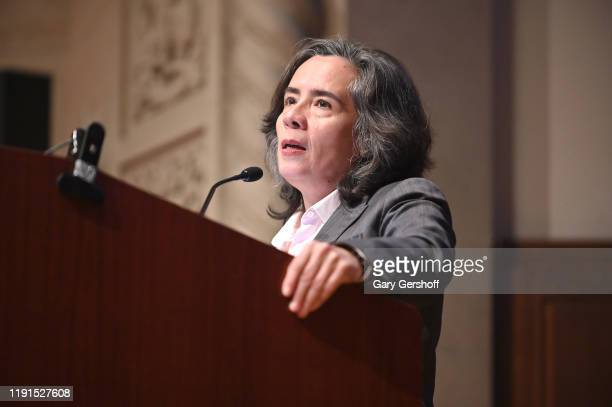 New York City Health Commissioner Dr Oxiris Barbot speaks on stage during Housing Works World AIDS Day at The New York Academy of Medicine on...