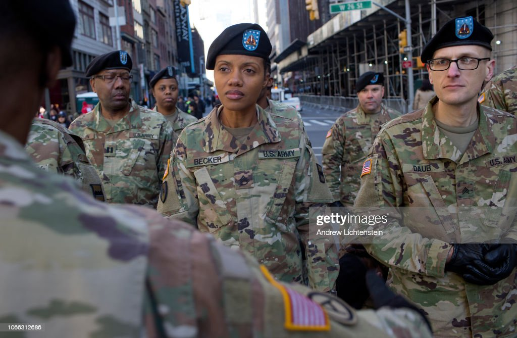 New York City Veteran's Day parade : News Photo
