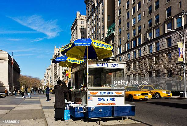 New York City hot dog stand