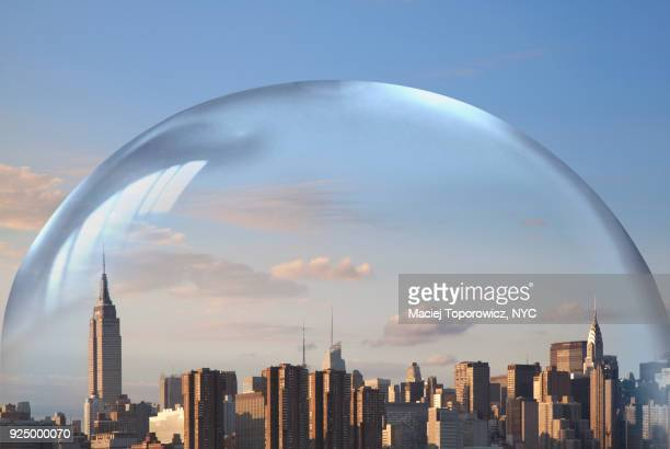 New York City in a water bubble.