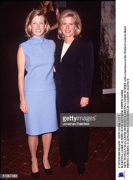 New York City Karenna Gore Schiff With Mother Tipper Gore New Woman Magazine Honors Karenna Gore Schiff With A Luncheon At The Waldorf Astoria Hotel