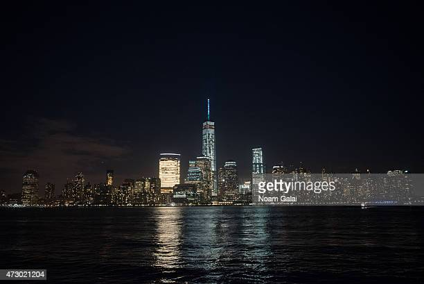 New York City landmark One World Trade Center illuminates turquoise in support of The American Lung Association's LUNG FORCE an initiative raising...