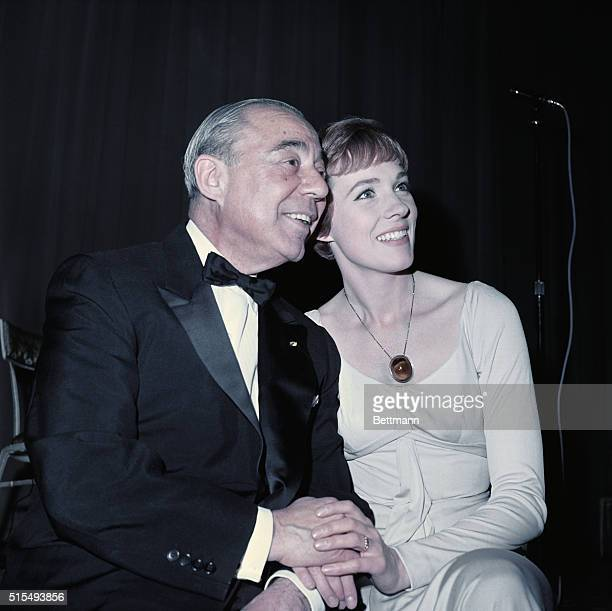New York City Lovely Julie Andrews sits with Composer Richard At Party Following Premier of The Sound of Music held at the Americana Hotel