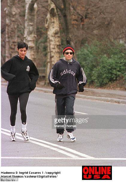 2/27/97 New York City Madonna And Ingrid Casares Jog Near Central Park