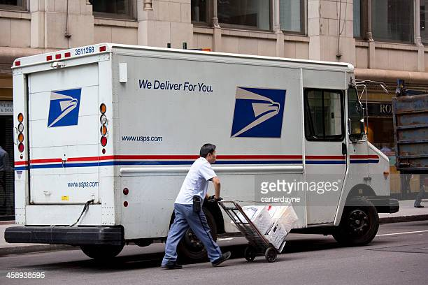 New York City Mailman Delivering Mail
