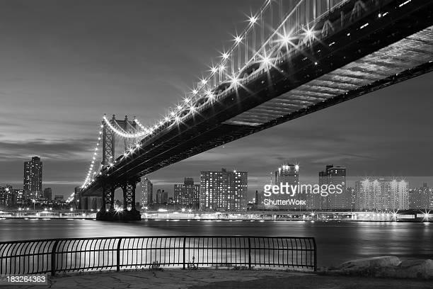 cidade de nova york-manhattan bridge - soho manhattan - fotografias e filmes do acervo