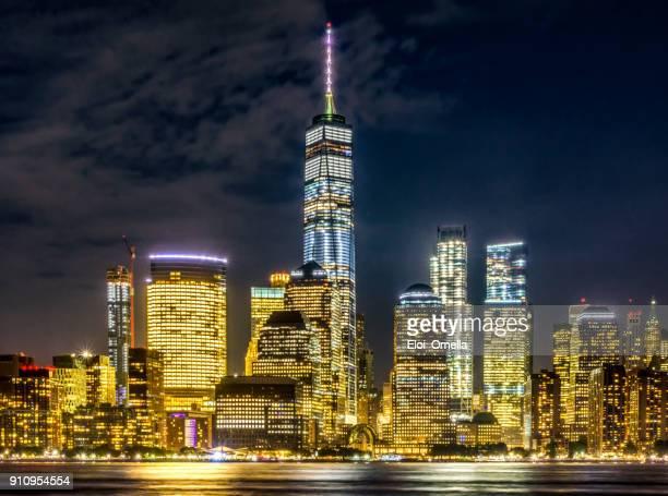 ciudad de nueva york manhattan centro noche