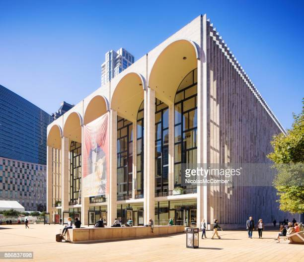 new york city manhattan lincoln center for the performing arts oblique view - the theater lincoln center stock pictures, royalty-free photos & images