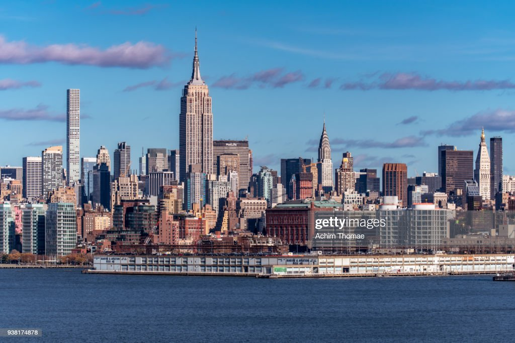 New York City, Manhattan Midtown Skyline, USA : Stock Photo
