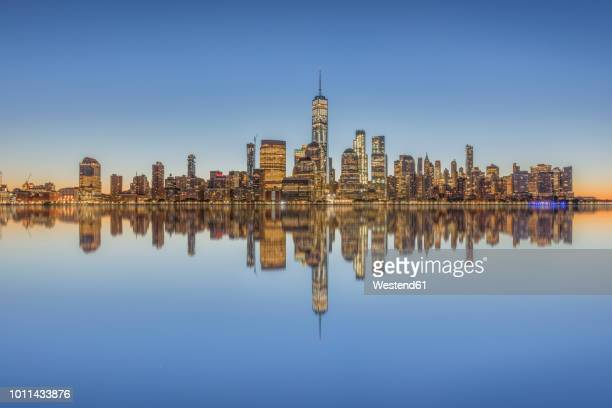 usa, new york city, manhattan, new jersey, cityscape - lower manhattan stock pictures, royalty-free photos & images