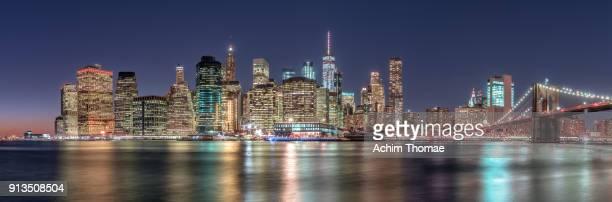 New York City, Manhattan Skyline at Sunset, USA