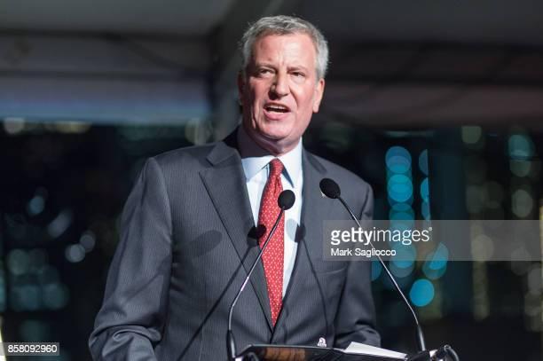 New York City Mayor Bill de Blasio attends the 2017 Brooklyn Bridge Park Conservancy Brooklyn Black Tie Ball at Pier 2 at Brooklyn Bridge Park on...