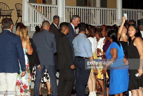 New York City Mayor Bill de Blasio attends the West Indian American/Caribbean American Heritage Reception at Gracie Mansion on August 28, 2018 in New...