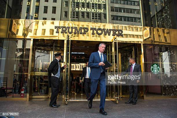 New York City Mayor Bill de Blasio met with Presidentelect Donald Trump inside of Trump Tower The goal of the meeting was to assert Presidentelect...