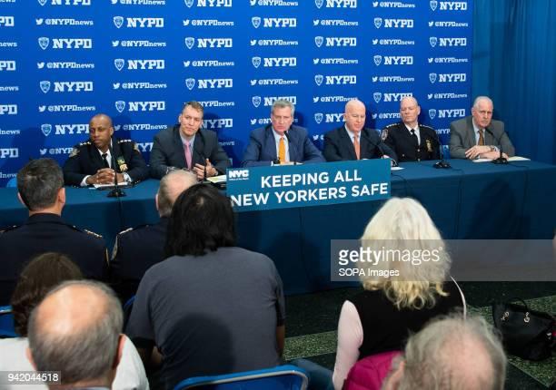New York City Mayor Bill de Blasio Police Commissioner James O'Neill Department Chief of Crime Control Strategies Dermot Shea Chief of Department...