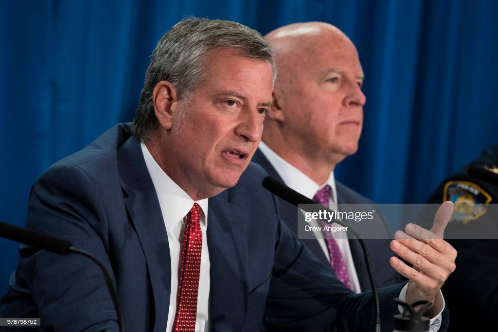 Mayor De Blasio And NYPD Chief O'Neil Announce Loosening Up Of Marijuana Enforcement Policy