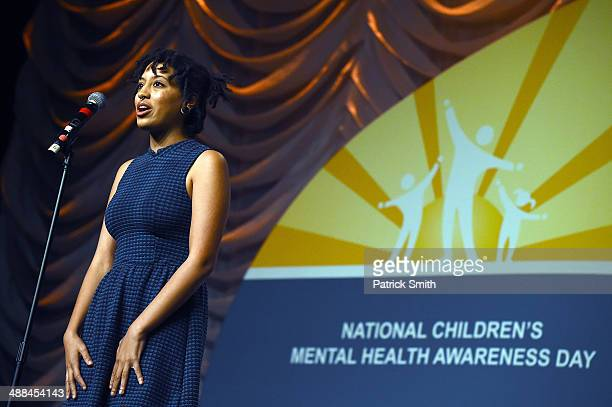 New York City Mayor Bill de Blasio's daughter Chiara de Blasio speaks before she received a special recognition award at the National Council for...