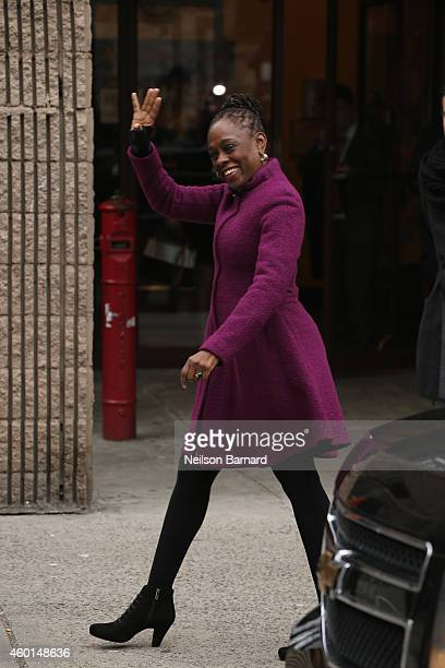 New York City Mayor Bill de Blasio's wife Chirlane McCray arrives at Northside Center for Child Development to meet Catherine Duchess of Cambridge on...