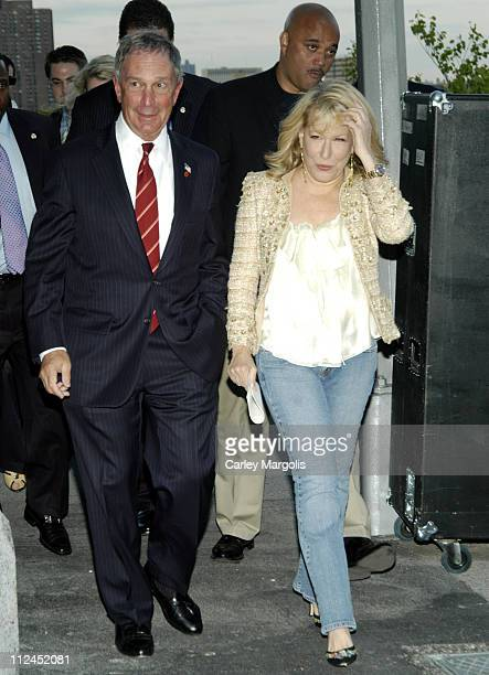 New York City Mayor Michael Bloomberg and Bette Midler