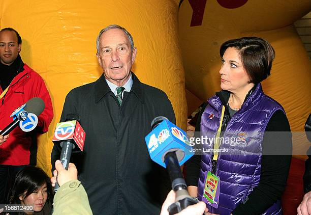 NEw York City Mayor Michael Bloomberg and Executive producer of Macy's Thanksgiving Day Parade Amy Kule attend 86th Annual Macy's Thanksgiving Day...