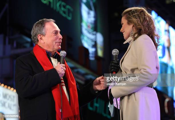 New York City Mayor Michael Bloomberg and MSNBC Anchor Amy Robach during NBC's New Year's Eve 2008 with Carson Daly in Times Square on December 31,...
