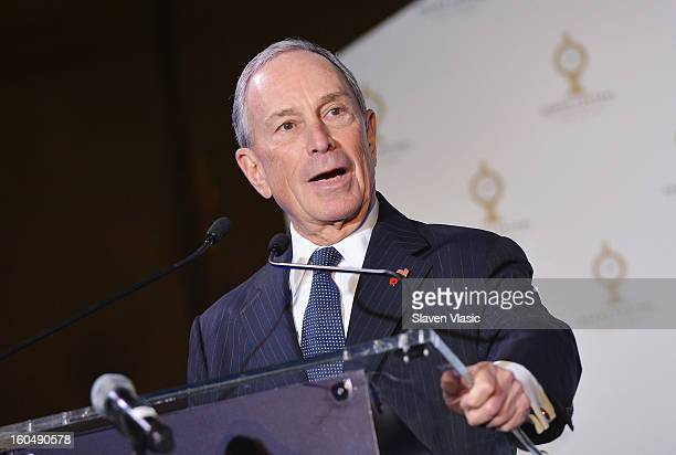New York City Mayor Michael Bloomberg attends Grand Central Terminal 100th Anniversary Celebration at Grand Central Terminal on February 1, 2013 in...