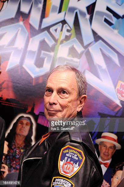 New York City Mayor Michael Bloomberg attends the 2013 Inner Circle Rehearsal at the Grand Ballroom at the New York Hilton on March 22 2013 in New...