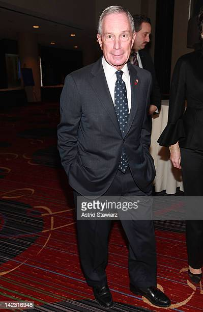 New York City Mayor Michael Bloomberg attends the 55th Annual New York Emmy Awards gala at the Marriott Marquis Times Square on April 1 2012 in New...