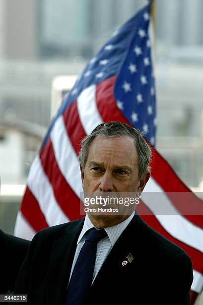 New York City Mayor Michael Bloomberg prepares to announce a proposed renovation of the New York Cruise Terminal on Manhattan's West Side April 19...
