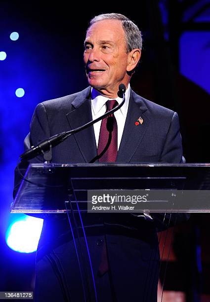 New York City Mayor Michael Bloomberg speaks onstage at the VH1 Save The Music Foundation 2010 Gala at Cipriani Wall Street on November 8, 2010 in...
