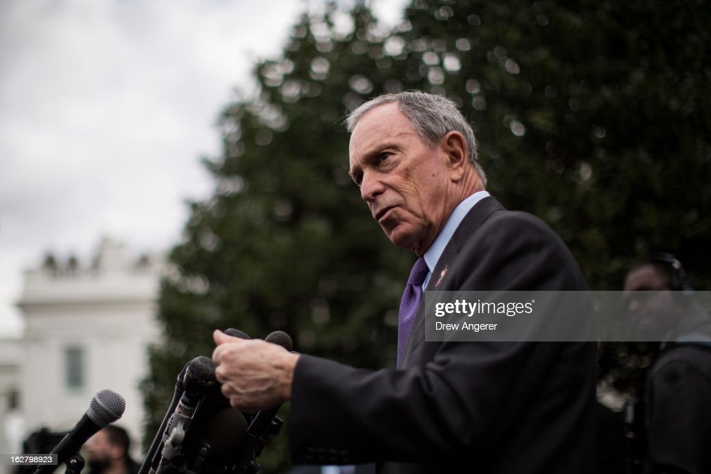 NYC Mayor Bloomberg Speaks To The Media After Meeting With Biden