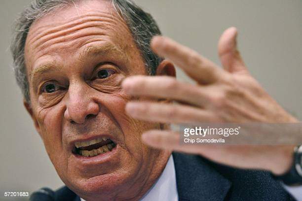 New York City Mayor Michael Bloomberg testifies before the House Judiciary Committee's Crime Terrorism and Homeland Security Subcommittee about the...