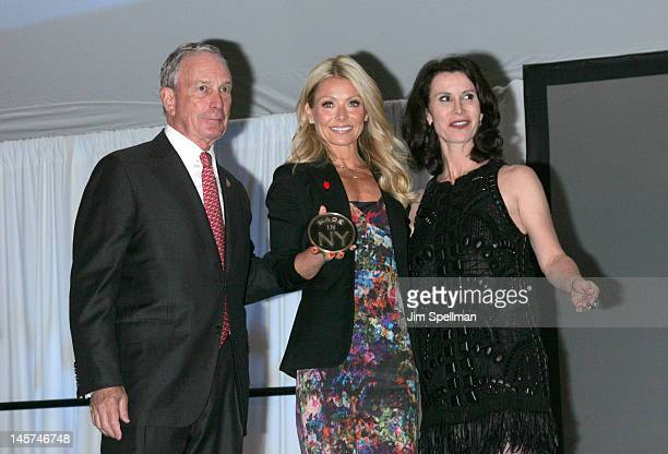 New York City Mayor Michael Bloomberg TV Personality Kelly Ripa and New York City Film Commissioner Katherine Oliver attend the 2012 Made In NY...