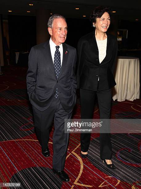 New York City Mayor Michael R Bloomberg and Diana Taylor attend the 55th Annual New York Emmy Awards gala at the Marriott Marquis Times Square on...