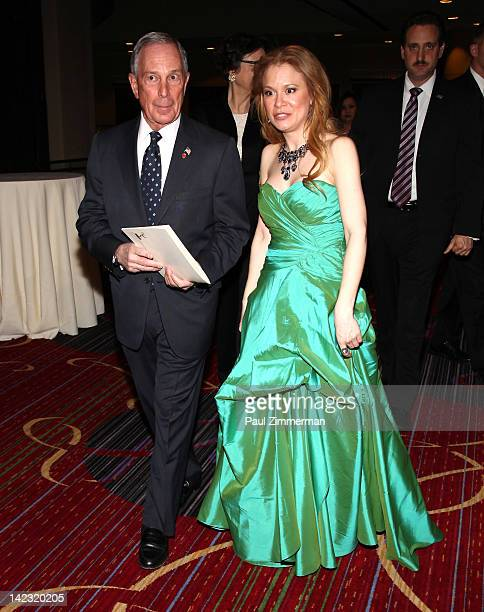 New York City Mayor Michael R Bloomberg and Jacqueline Gonzalez attend the 55th Annual New York Emmy Awards gala at the Marriott Marquis Times Square...