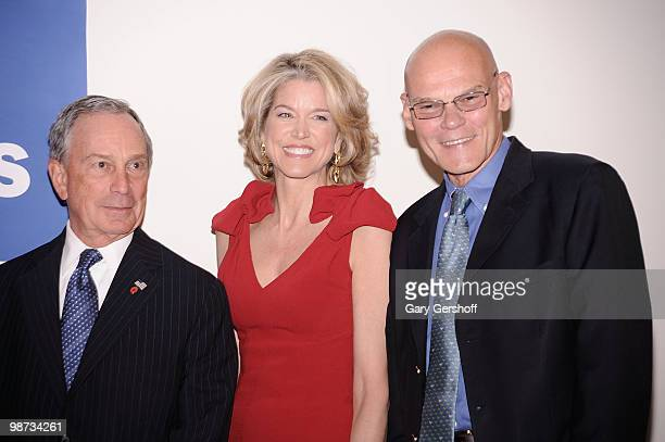 New York City mayor Michael R Bloomberg Newscaster Paula Zahn and event honoree political consultant James Carville attend the National Center for...