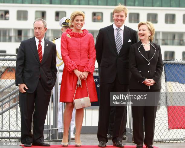 New York City Mayor Michael R. Bloomberg, Princess Maxima of the Netherlands, Prince Willem-Alexander of the Netherlands, and Secretary of State...
