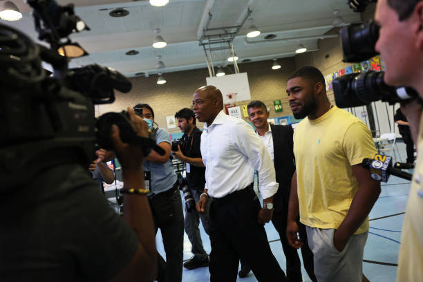 NY: New York Mayoral Candidate Eric Adams Votes In Primary