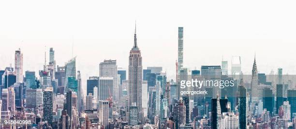 new york city metropolis - new york skyline stock photos and pictures