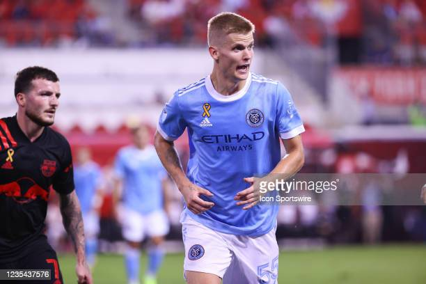 New York City midfielder Keaton Parks during the Major League Soccer game between the New York Red Bulls and New York City FC on September 22, 2021...