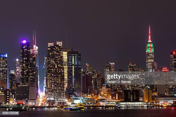 new york city midtown (christmas) - new york weihnachten stock-fotos und bilder